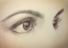 素描手绘眼睛图片