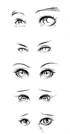 素描手绘眼型图片