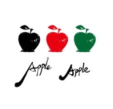 原创苹果手绘图片