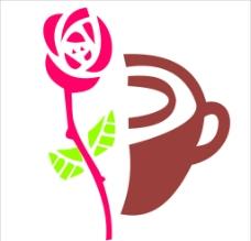 玫瑰与咖啡图片