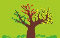 卡通造型树图片