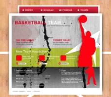 国外运动类网页精品页面设计素材图片