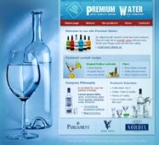 红酒高脚杯网页网站模板图片
