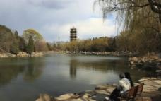 北大未名湖风景高清摄影图片