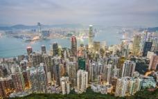 璀璨香港维多利亚夜景图片