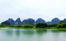 琴潭山水倒影图片