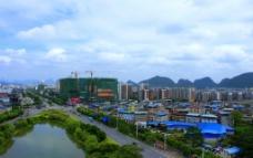 桂林琴潭城区风光图片