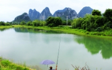 秀峰区琴潭山水风光图片