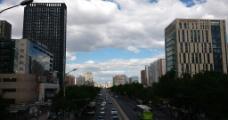 北京天桥的北京蓝图片