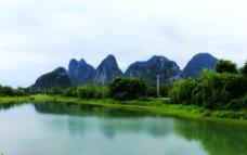 琴潭山水景色图片