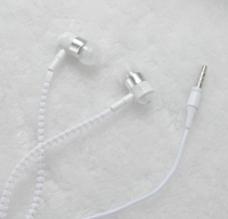 拉链耳机 耳机 白色 摄影 J图片