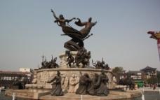 华清池广场雕塑图片
