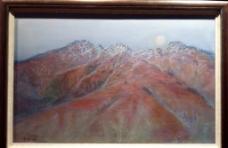 山水风景油图片