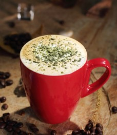 抹茶拿铁咖啡图片
