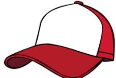 红色矢量棒球帽图片