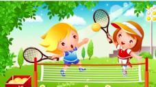 卡通运动网球图片