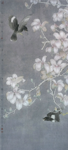 李晓明工笔花鸟高清图图片