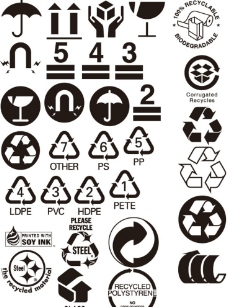 回收标志矢量图图片