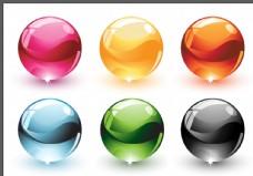 彩色玻璃球图片