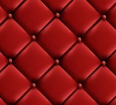 红色沙发皮革 背景图片