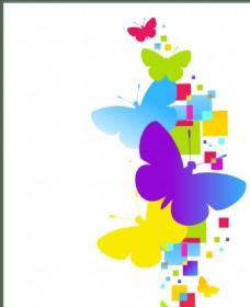 七彩蝴蝶背景图片