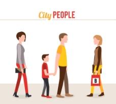 卡通城市人物图片