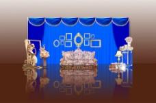 宝石蓝金迎宾区图片