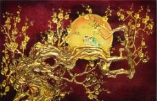 金色梅花图片