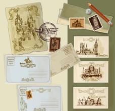 环球旅行 明信片图片