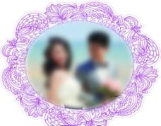 婚礼头像板图片
