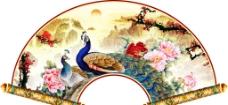孔雀花卉装饰画图片
