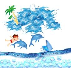 夏季海报素材图片