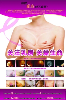 粉红丝带乳腺癌图片