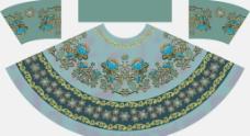 裙子定位花型图片