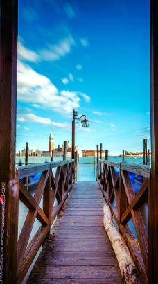 蓝色威尼斯图片