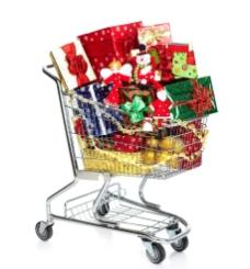 圣诞购物车图片