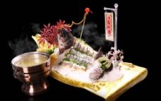 活鱼刺身料理图片
