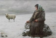 牧羊女的思绪图片