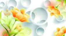 3D圆圈花卉(分层图)图片