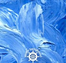 蓝色油彩涂鸦 背景图片