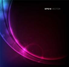 紫色动感曲线背景图片