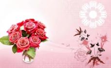 玫瑰花瓶图片