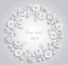 白色纸质 花环图片
