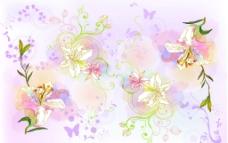 矢量线条花图片