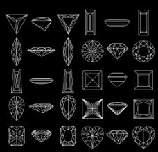 钻石切角图图片