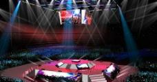 四面舞台设计图图片