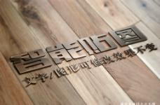 木板金属标志LOGO展示效果图图片