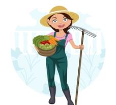 卡通女 农夫图片