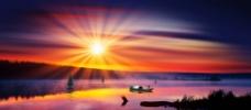 夕阳风景图片
