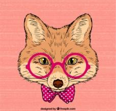 手绘狐狸图片